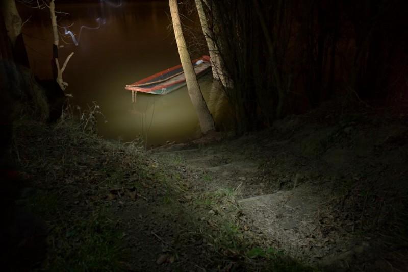Paysage naturel à la lumière artificielle